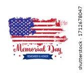memorial day background vector... | Shutterstock .eps vector #1712678047
