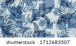 seamless tropical pattern with... | Shutterstock .eps vector #1712683507