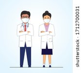 doctor man and lady... | Shutterstock .eps vector #1712700031