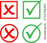 yes or no icon  simple flat... | Shutterstock .eps vector #1712736391