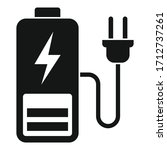 plug charging battery icon....   Shutterstock .eps vector #1712737261