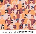 crowd seamless pattern. crowd... | Shutterstock .eps vector #1712752354