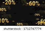 percent sings on dark...   Shutterstock .eps vector #1712767774