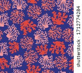 Coral Seamless Pattern. Red And ...