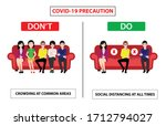 do and don't poster for covid...   Shutterstock .eps vector #1712794027