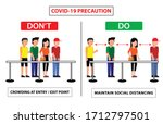 do and don't poster for covid... | Shutterstock .eps vector #1712797501