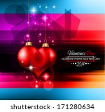 valentine's day template with... | Shutterstock .eps vector #171280634