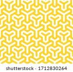 vector yellow geometric pattern.... | Shutterstock .eps vector #1712830264