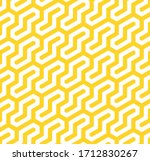 vector yellow geometric pattern.... | Shutterstock .eps vector #1712830267