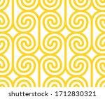 vector yellow geometric pattern.... | Shutterstock .eps vector #1712830321