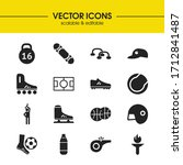 activity icons set with boxing  ...