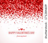 Happy Valentine's day card hearts light vector background  | Shutterstock vector #171284609