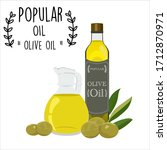 popular olive oil white... | Shutterstock .eps vector #1712870971