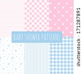 baby shower  set of vector... | Shutterstock .eps vector #171287891