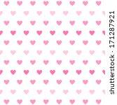 vector gradient heart seamless... | Shutterstock .eps vector #171287921
