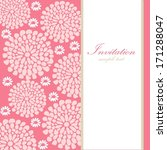 wedding birthday card or... | Shutterstock .eps vector #171288047