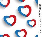 paper hearts seamless... | Shutterstock .eps vector #171288431