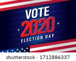 vote 2020 in usa  banner design.... | Shutterstock .eps vector #1712886337