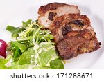 pork stuffed with prunes and...   Shutterstock . vector #171288671