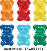 Colorful Gummy Bears For Kids