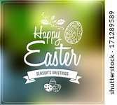 happy easter typographic label  ...   Shutterstock .eps vector #171289589