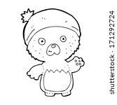 cartoon cute teddy bear in hat | Shutterstock .eps vector #171292724