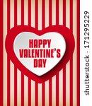 vector   valentine day heart on ... | Shutterstock .eps vector #171295229