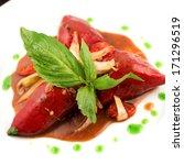 piquillos rellenos de cordero.... | Shutterstock . vector #171296519