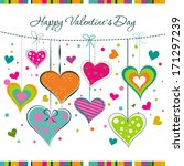 template valentine greeting... | Shutterstock .eps vector #171297239