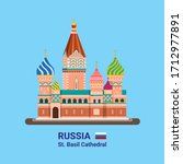 saint basil s cathedral  ... | Shutterstock .eps vector #1712977891