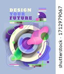 futuristic poster design in...   Shutterstock .eps vector #1712979067