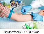 Laboratory With Nurse Taking A...