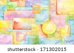 abstract acrylic hand painted... | Shutterstock . vector #171302015