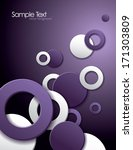 vector background with cut outs.... | Shutterstock .eps vector #171303809