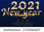 calligraphic golden letters.... | Shutterstock .eps vector #1713062647
