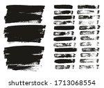 flat paint brush thin lines  ... | Shutterstock .eps vector #1713068554