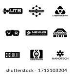 sci fi and cyberpunk logos....   Shutterstock .eps vector #1713103204