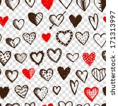 seamless pattern with valentine ... | Shutterstock .eps vector #171313997