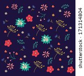 nice spring ethnic pattern with ... | Shutterstock .eps vector #171314804