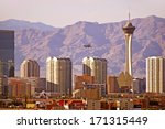 Stock photo vegas cityscape las vegas nevada downtown skyline united states 171315449