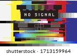No Signal Tv Retro Television...