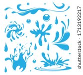 water. splash and spray. set.... | Shutterstock .eps vector #1713192217