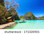 filipino boat in the sea  coron ...   Shutterstock . vector #171320501