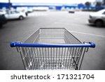 market cart and supermarket...   Shutterstock . vector #171321704