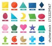 set of basic geometric shapes | Shutterstock .eps vector #1713229567