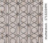 seaumless neutral worn faded... | Shutterstock . vector #1713233494