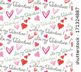 holiday valentines day seamless ... | Shutterstock .eps vector #171324887
