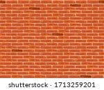 brick wall pattern seamless... | Shutterstock .eps vector #1713259201