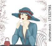 portrait of a beautiful woman... | Shutterstock .eps vector #171327581
