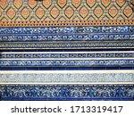 thai tradition pattern ceramic... | Shutterstock . vector #1713319417
